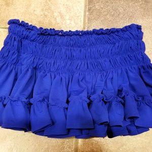 Omo Norma Kamali royal blue swim skirt XS SMALL